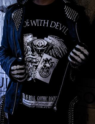 "T-SHIRT ""RIDE WITH DEVIL"""